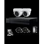 Kit XVR + 2 caméras dômes 2 MP + Disque Dur 1To HIKVISION